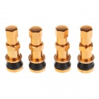 Universal Aluminum Alloy Tire Valve Caps - Orange + Black (4 PCS)
