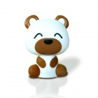 CUTE&CHIC Bear Shape Touch Control USB Rechargeable 1W 2-LED 50lm 5900K Table Light - Brown + White