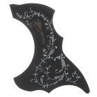 A025D Bird Flower Pattern Protective Paster for Guitar - Black