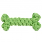 Teeth Cleaning / Grinding Cotton Cord Bone for Pet Dog - Green