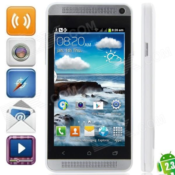 "J One mini Android 2.3.6 GSM Bar Phone w/ 4.0"", Quad-Band, FM and Wi-Fi - White"