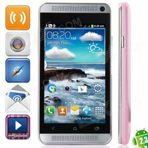 "J Un mini-Android 2.3.6 GSM Bar Phone w / 4.0 "", quadri-bande, FM et Wi-Fi - Rose"