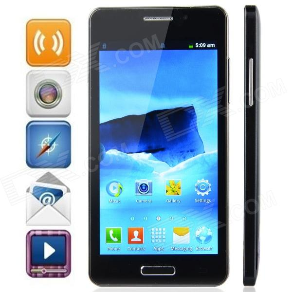 "L3-Note Android 2.3.5 GSM Bar Phone w/ 5.0"" Capacitive Screen, Wi-Fi, FM, and Quad-Band - Black"