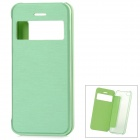 Protective Flip-open Plastic Case w/ Visual Window for Iphone 5C - Green