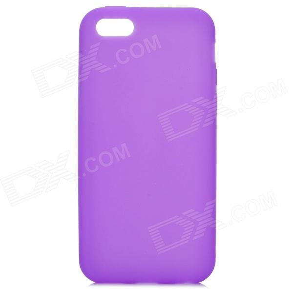 Protective Silicone Back Case for Iphone 5C - Purple top lcd iphone 5c