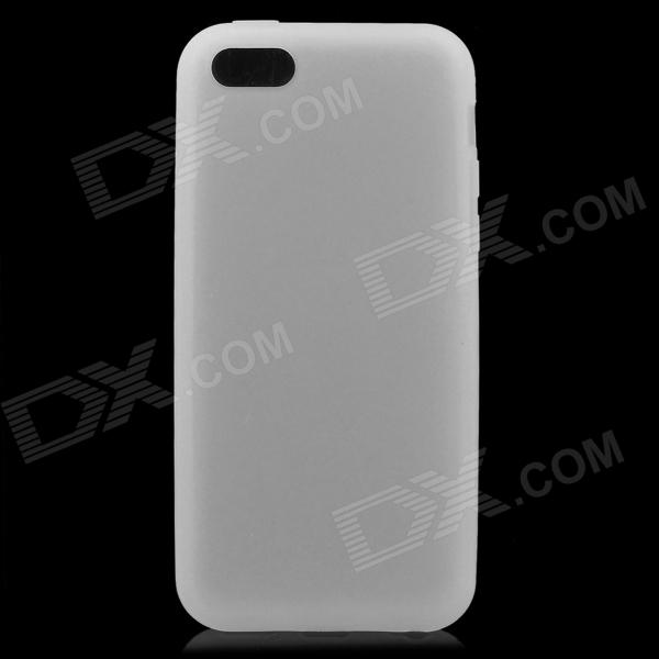 Protective Silicone Back Case for Iphone 5C - White protective silicone case for nds lite translucent white