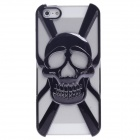 Skull Style Protective Electroplate Plastic Back Case for iPhone 5 - Black