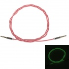 3.5mm Male to Male Neon Green Light Audio Extender Cable - Red (100cm)