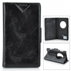PUDINI WB-1020R Protective Flip Open PU Leather Case for Nokia Lumia 1020 - Black