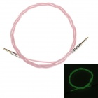 3.5mm Male to Male Neon Green Light Audio Extender Cable - Light Pink (100cm)