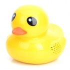 Ancnen-C10 Cute Yellow Duck Rechargeable Media Player Speaker w/ USB 2.0 / TF / FM