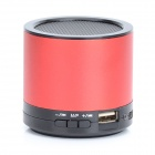 HS-X2  Rechargeable Aluminum Alloy Media Player Speaker w/ USB 2.0 / TF / FM - Red + Black