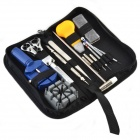 Portable 14-in-1 Tool Set Kit for Watch Repair - Black