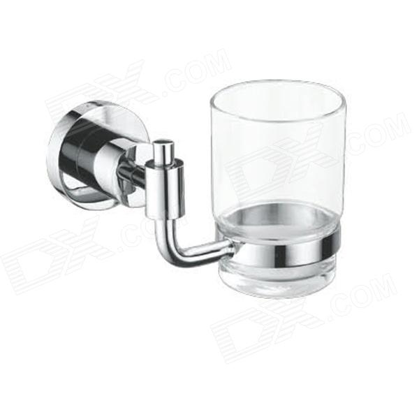 Brass Tumbler Holder w/ Glass Cup - Silver (200ml)