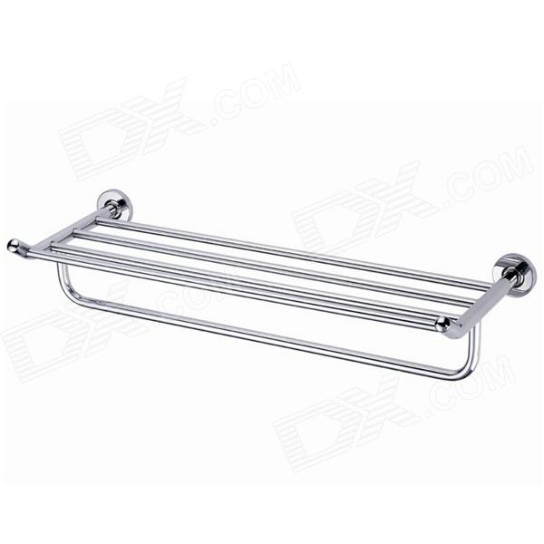 Stainless Steel Wire Drawing Bathroom 5-Bar Towel Rack - Silver stainless steel material aaron wire bar effective coating width 200mm scraping ink bar