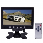 "7"" TFT LCD 7W Digital Car Desktop Monitor - Black"