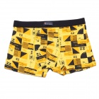 Soft Breathable Modal Fabric + Cotton Men's Boxers Underwear - Yellow (Free Size)