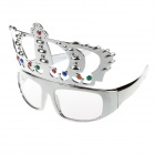Decorative UV400 Crown Style Glasses - Silver