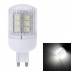 ZY-0908 G9 4W 360LM 6500K 18-SMD 5050 LED White Light Bulb Lamp - Weiß (220)