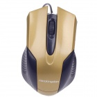 Microkingdom M-24 Vogue USB Wired 1200dpi Optical Gaming Mouse - Yellow + Black (125cm-Cable)