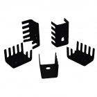 Aluminum Heatsink Radiators - Black (19 x 15 x 10mm / 5 PCS)