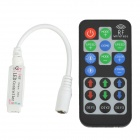 DIY Mini RF LED Controller w/ Remote Control for RGB LED Strip - Black + White