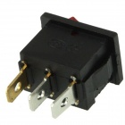 Rocker Switch 3-Pin ON / OFF - vermelho + preto (6A, AC 250V / 10A, 125V AC)