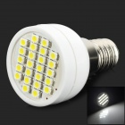 UltraFire E14 1W 100lm 6000K 24-SMD 3528 LED White Light Bulb - White + Silver (12V)