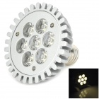 E27 7W 560lm 3500K 7-LED Warm White Spotlight Bulb - Silver (90~265V)