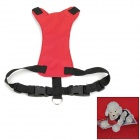 2-in-1 Car Safety Portable Pet's Dog Harness Band - Red + Black (Size S)
