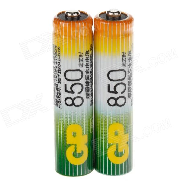 GP 1.2V 850mAh Ni-MH Rechargeable AAA Batteries - (2 PCS) 8pcs pkcell battery aaa pre charged nimh 1 2v 1200mah ni mh 3a rechargeable batteries up to 1000mah capacity cycle 1200times