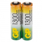 GP 1.2V 1300mAh Ni-MH Rechargeable AA Batteries - (2 PCS)