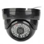 "1/3"" CCD 700TVL CCTV Camera w/ 48-IR Night Vision - Black"