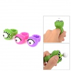 Pop Out Eyes Stress Reliever Relief Squeeze Finger Rings - Green / Purple / Deep Pink (3 PCS)