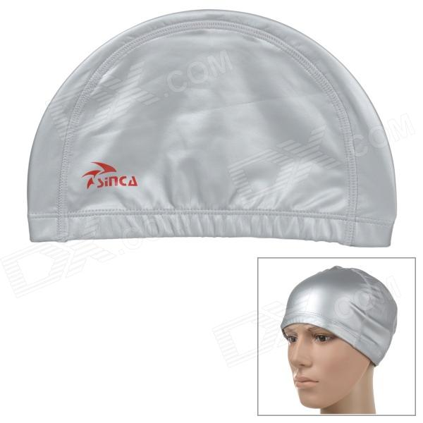 Sinca SP-001-Silver Polyurethane Swimming Cap - Silver
