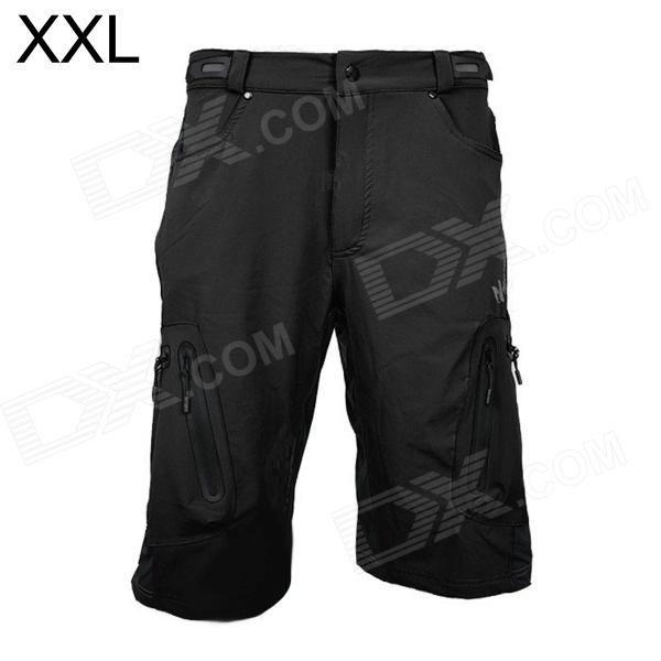 ARSUXEO AR1202 Outdoor Sports Lycra + Composite Fabric Cycling Shorts for Men - Black (XXL)