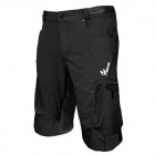 ARSUXEO AR1202 Outdoor Sports Lycra + Composite Fabric Cycling Shorts for Men - Black (XL)