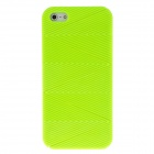 Detachable Wave Pattern Protective Plastic Back Case for Iphone 5 - Fluorescent Green