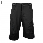 ARSUXEO AR1202 Outdoor Sports Lycra + Composite Fabric Cycling Shorts for Men - Black (L)