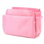 F Multifunction Large Insert Storage Cosmetic Bag Organizer - Pink