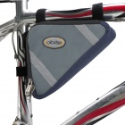 Doite 040620804 Cycling Nylon Bike Triangle Bag - Navy + Grey