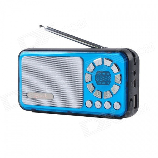 Liweek IF135 Digital FM Radio Media Player Speaker w/ TF / Antenna - Blue + Black radio pharmaceuticals and radio opaque contrast media