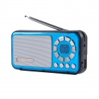 Liweek IF135 Digital FM Radio Media Player Speaker w/ TF / Antenna - Blue + Black