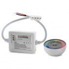 Wireless RGB LED Controller w/ Touch Round Remote Control - White
