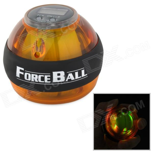 Forceball SPT-ALC Gyroscope Force Power Wrist / Arm Ball w/ LED Counter - Yellow + Green + Black