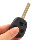 021450 Replacement 3-button RC Key Plastic + Copper Cover Shell for Lexus Car Key - Black + Brass