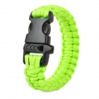 Outdoor Emergency Surviving Quick-Release Parachute Hand Rope / Cord Bracelet w/ Whistle - Green