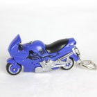 Motorcycle LED Keychain w/ Sound Effect - Blue + Black + Silver (3 x AG10)