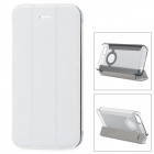 Baseus Protective PC Back Case + PU Leather Cover Stand for Iphone 5 / 5s - Grey + White