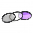 EOSCN 55MM UV + CPL + FLD Lens Filter for Nikon Pentax Sony Camera - Black